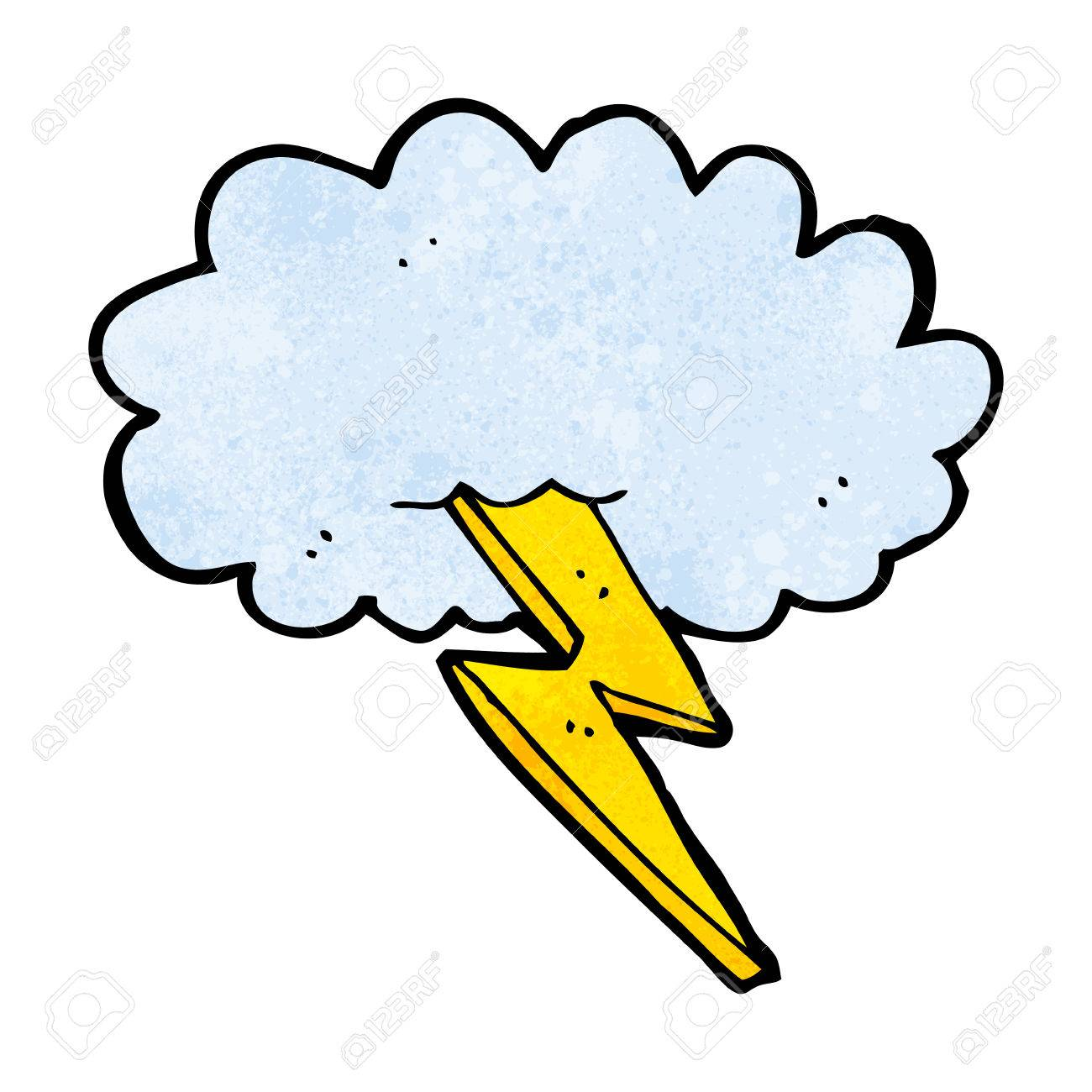 cartoon lightning bolt and cloud royalty free cliparts vectors and