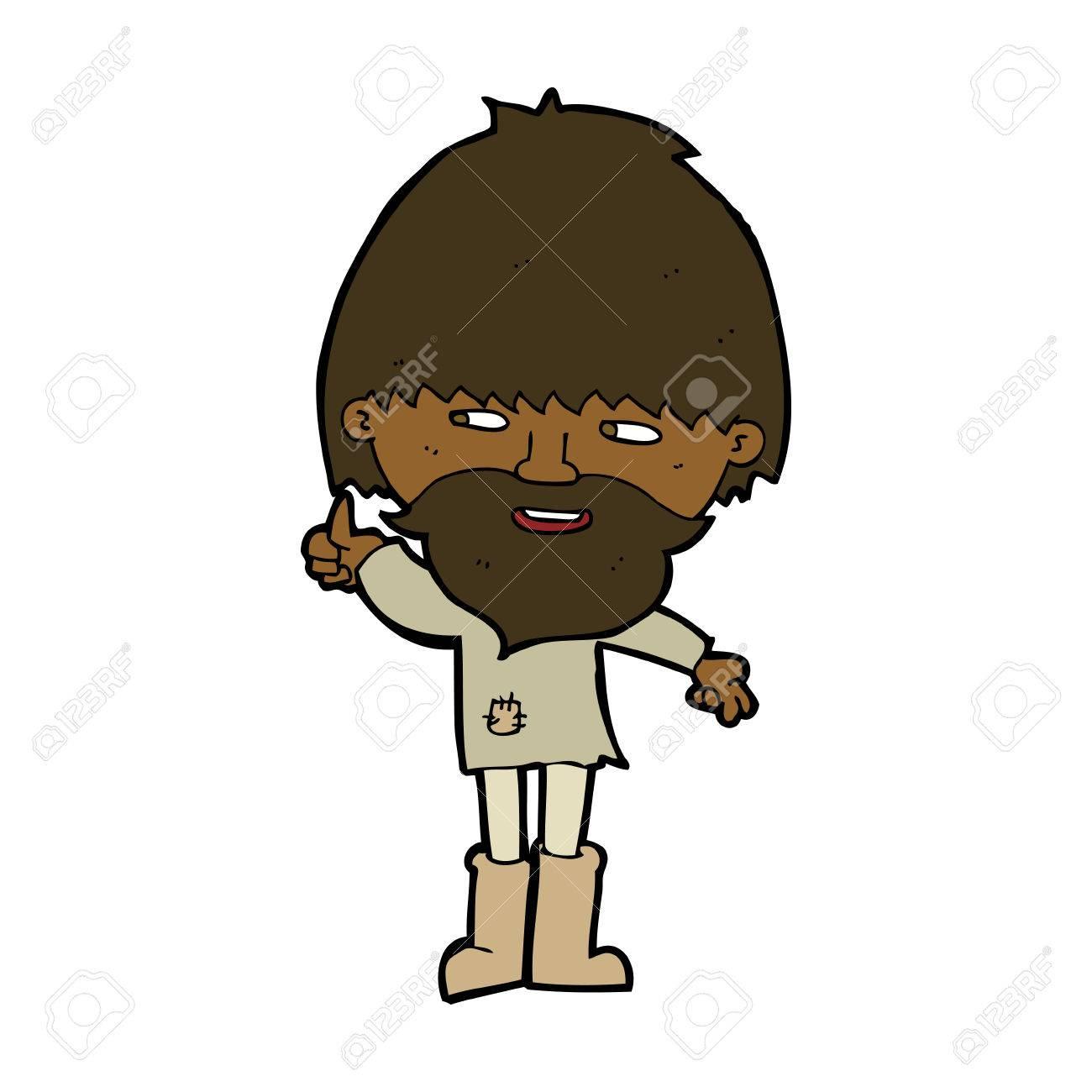 Vettoriale cartone animato hippie uomo in stivali di gomma image