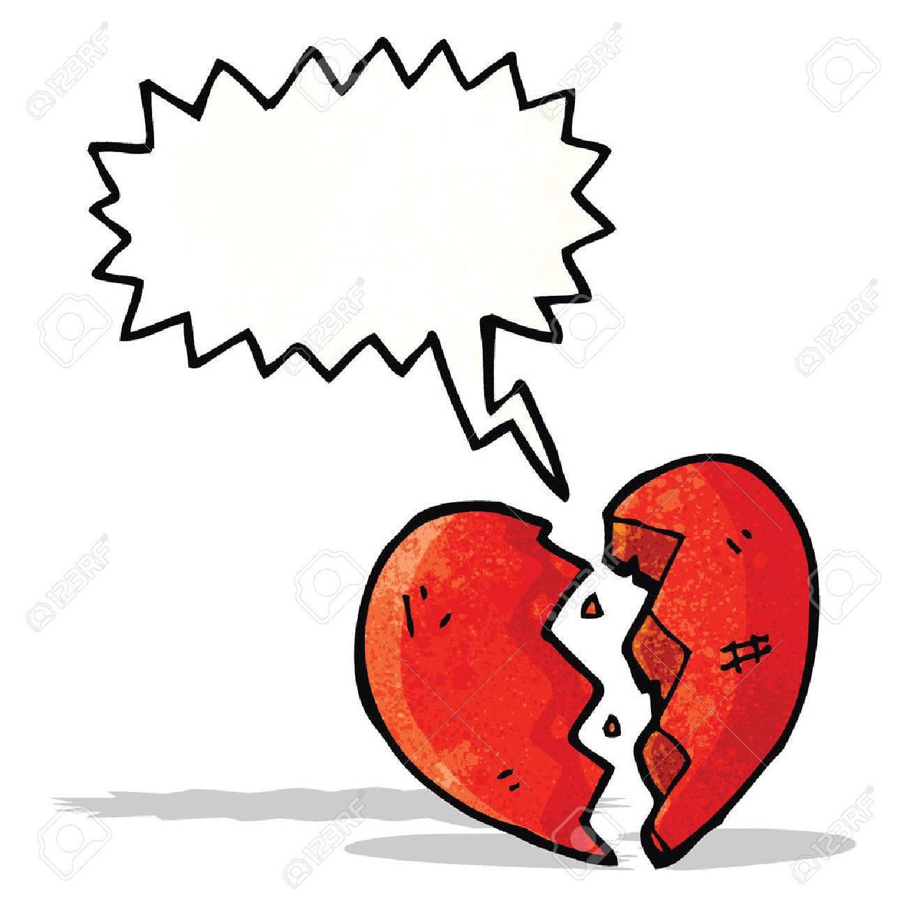 breaking heart cartoon - 31952853