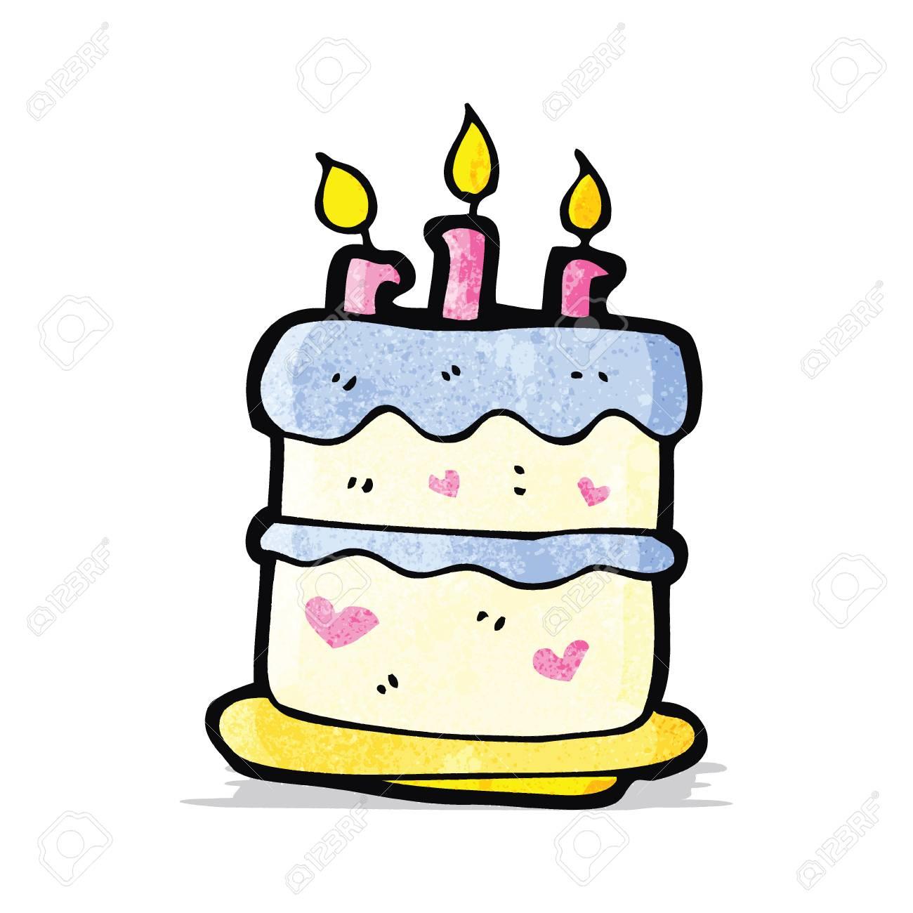 Cartoon Birthday Cake Stock Vector
