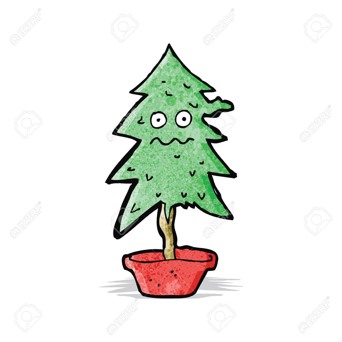 Cartoon Ragged Old Christmas Tree Royalty Free Cliparts, Vectors ...