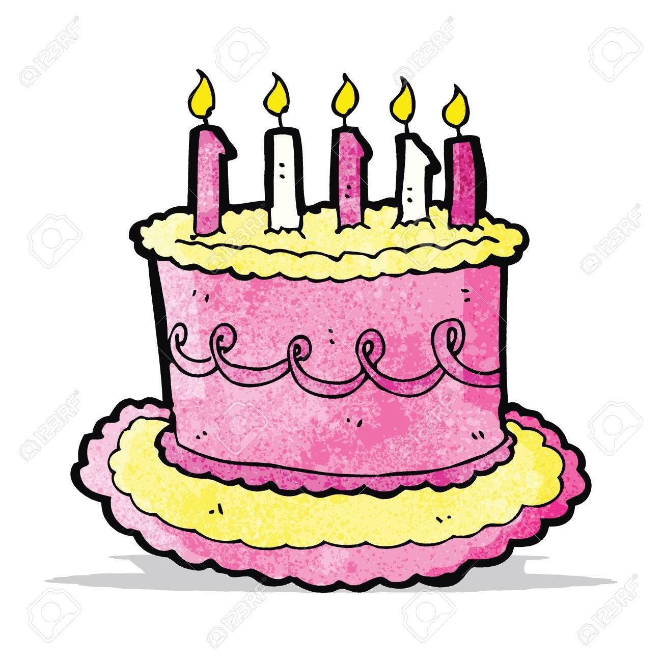 Cartoon Birthday Cake Royalty Free Cliparts Vectors And Stock