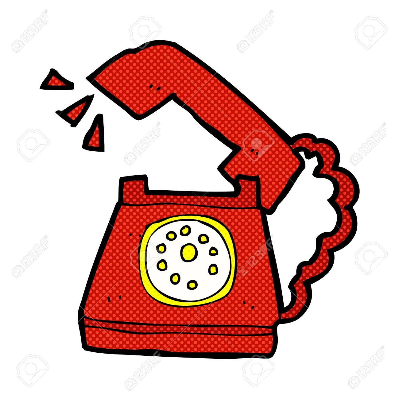 Stuhl comic  Retro Comic Book Style Cartoon Ringing Telephone Royalty Free ...
