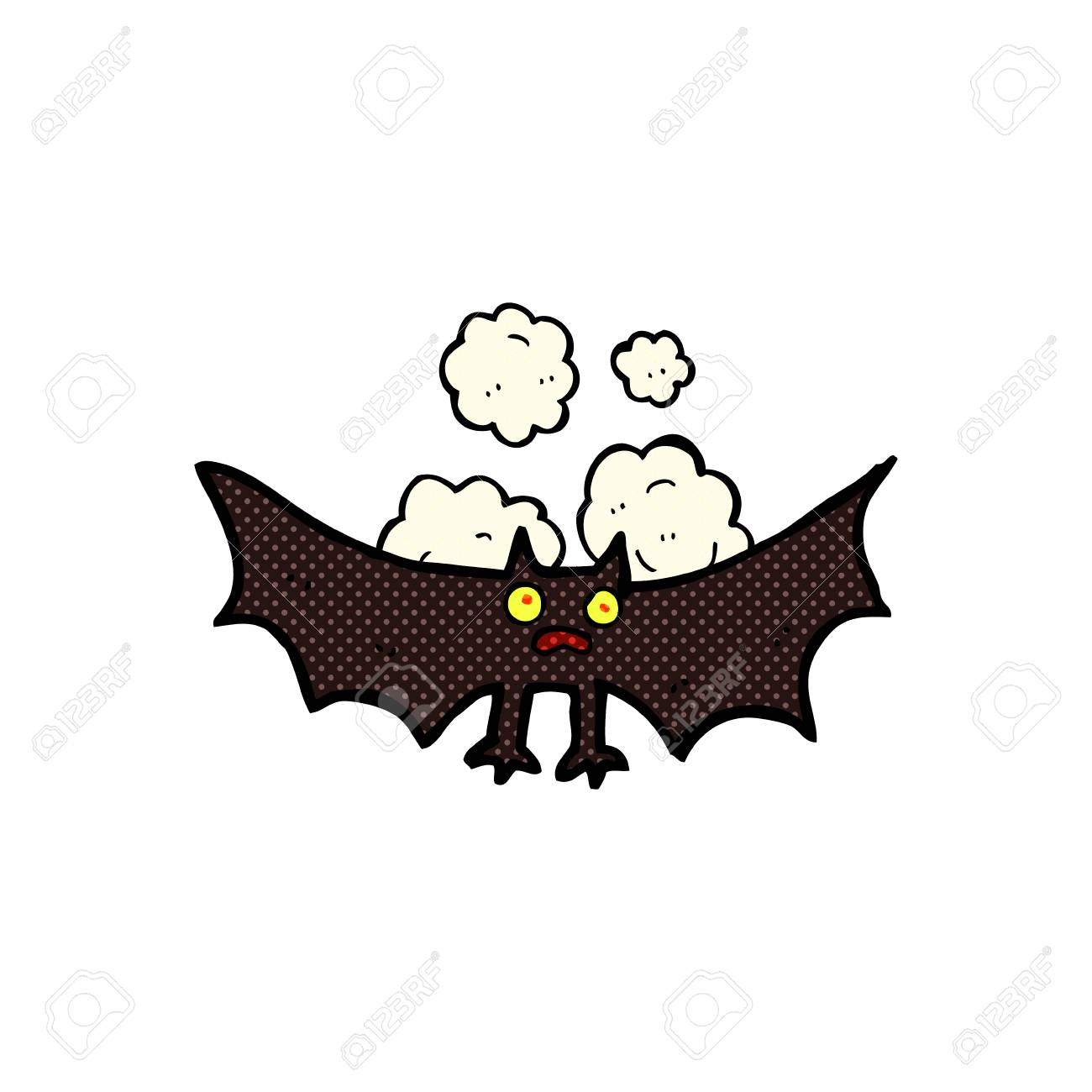 Semplice pipistrello dei cartoni animati modello d c d obj