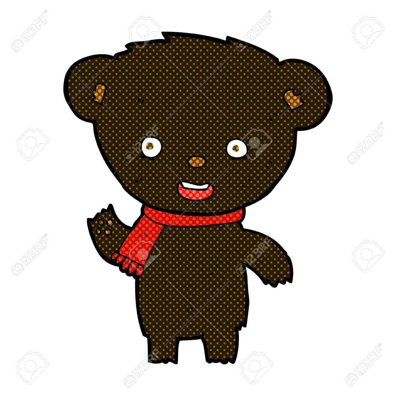 92415af1975db Retro comic book style cartoon cute black bear royalty free cliparts jpg  1300x1300 Retro bear