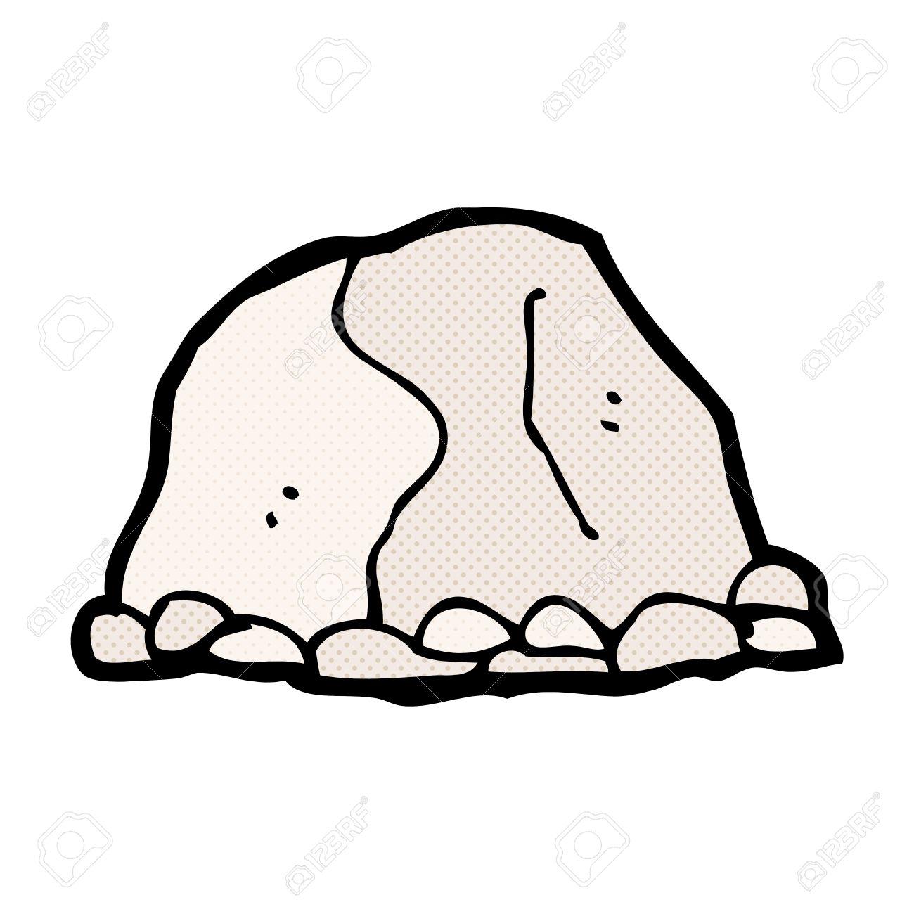 De Dibujos Animados Retro Del Estilo Del Cómic Gran Roca