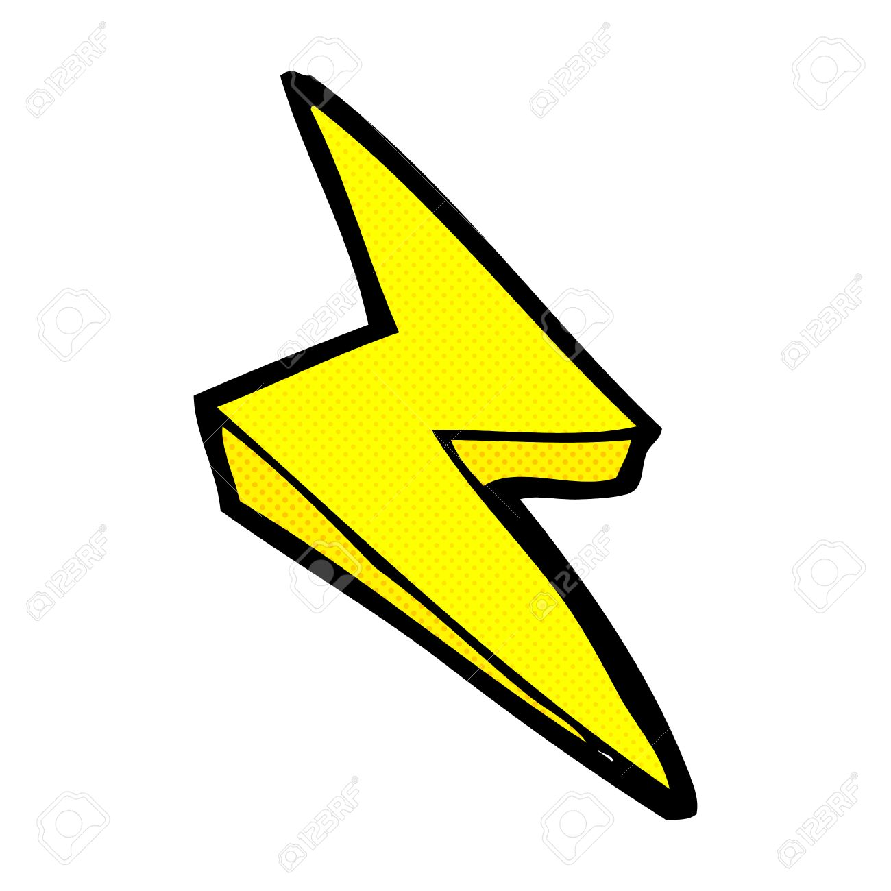 retro comic book style cartoon lightning bolt symbol royalty free rh 123rf com yellow lightning bolt clipart lightning bolt clip art free
