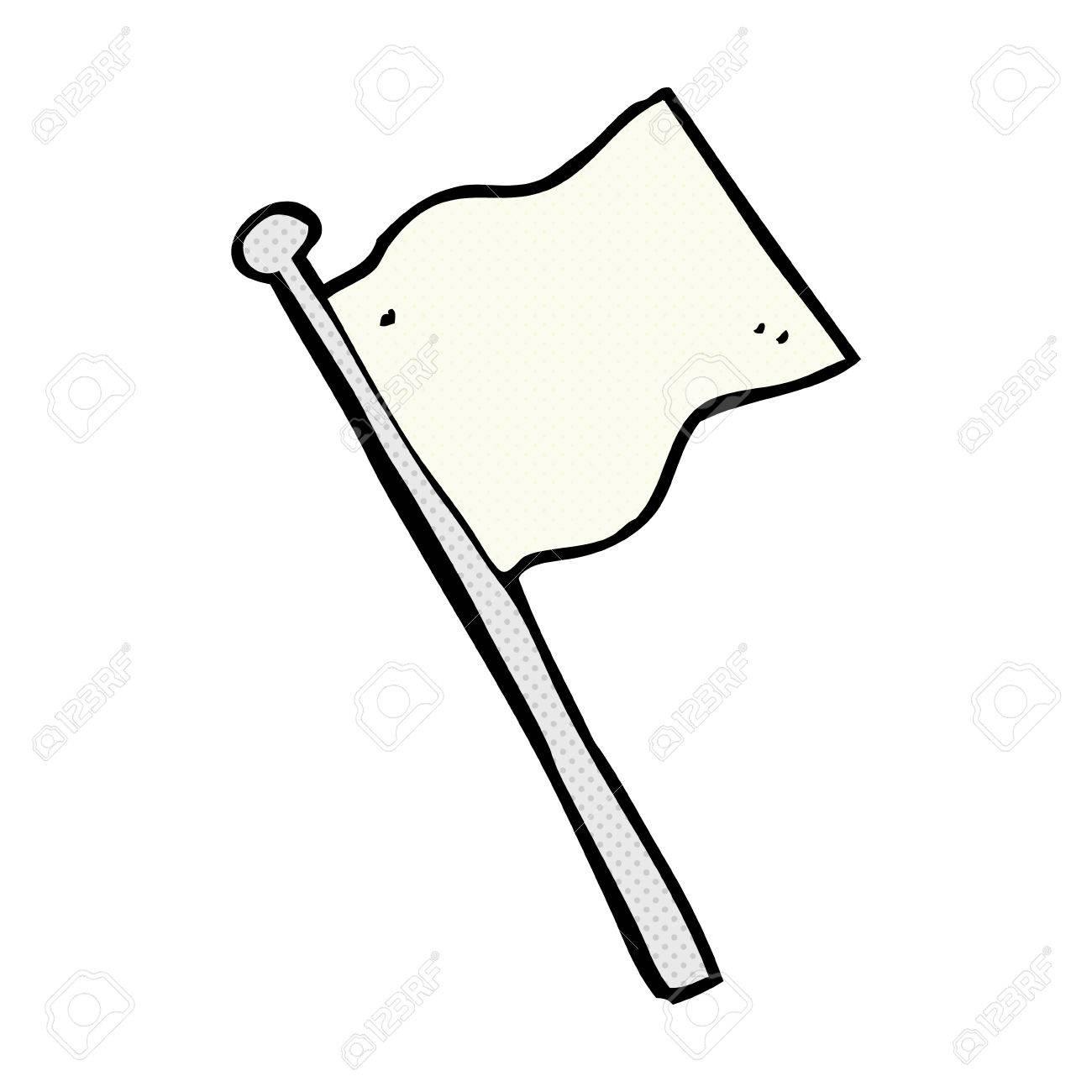 banque dimages rtro bande dessine de style de bande dessine drapeau blanc