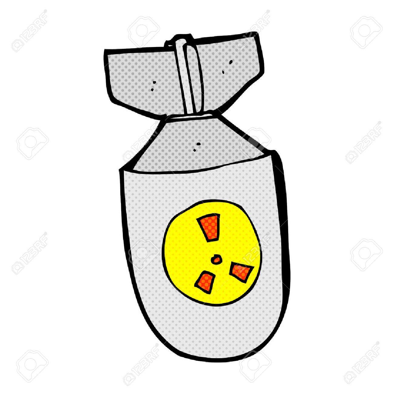 retro comic book style cartoon atom bomb royalty free cliparts rh 123rf com Atomic Bomb Cartoon Manhattan Project Atomic Bomb