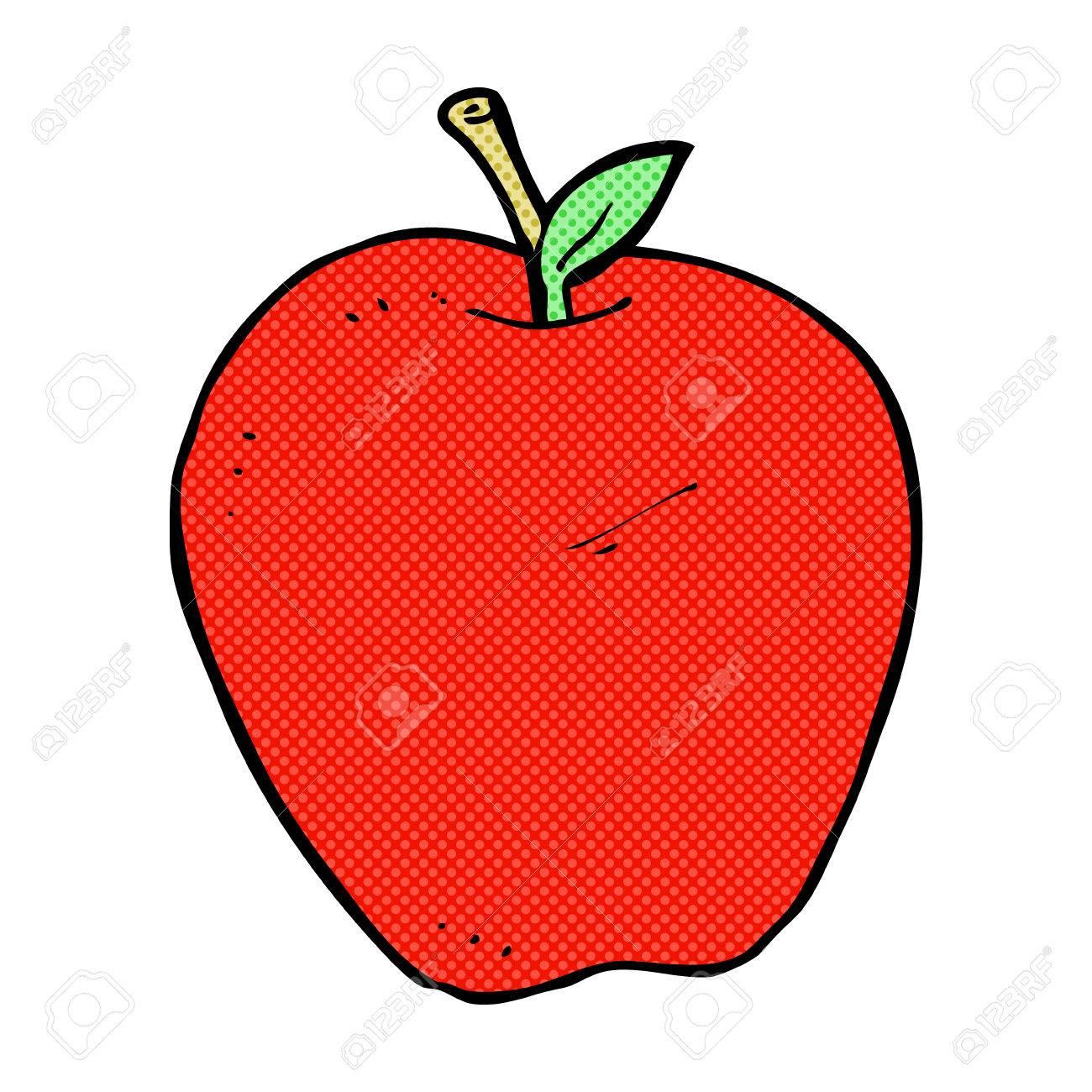 retro comic book style cartoon apple - 36641426
