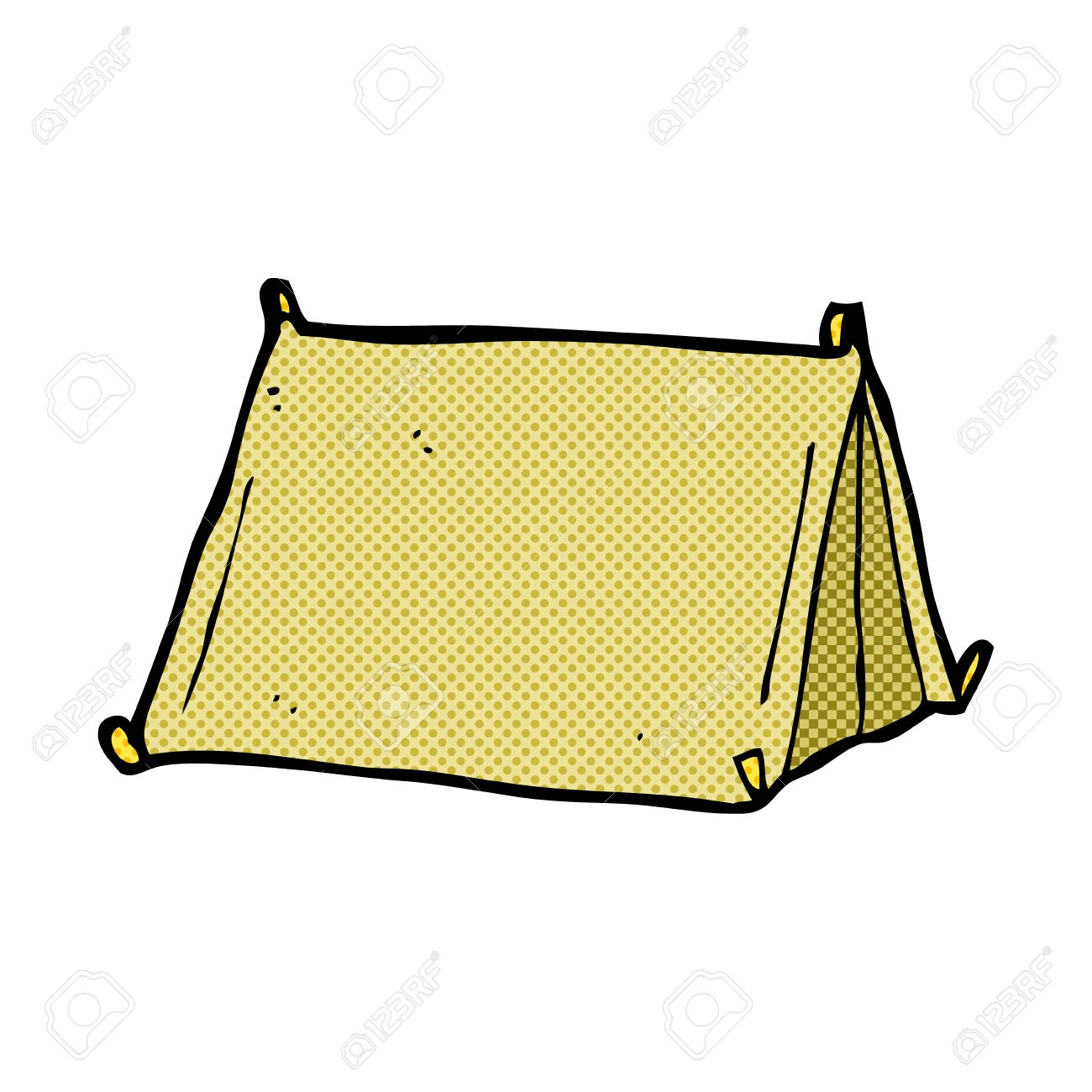 retro comic book style cartoon traditional tent Stock Vector - 36705450  sc 1 st  123RF Stock Photos & Retro Comic Book Style Cartoon Traditional Tent Royalty Free ...