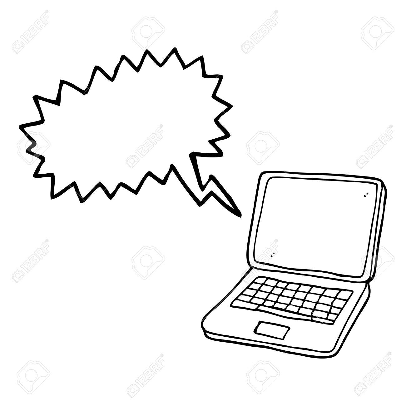 Freehand drawn speech bubble cartoon laptop computer with heart freehand drawn speech bubble cartoon laptop computer with heart symbol on screen stock vector 53101581 buycottarizona Choice Image