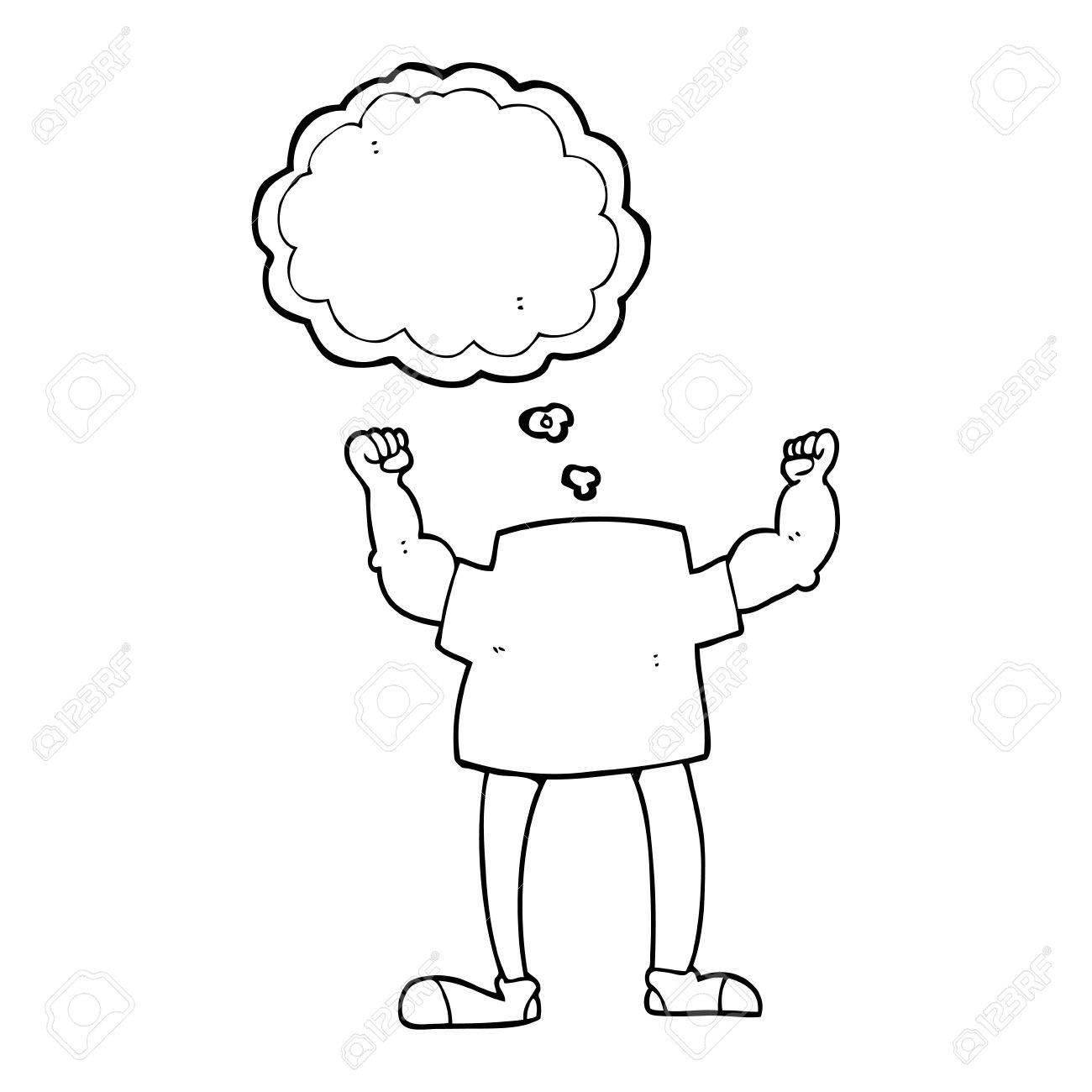 Gedankenblasen Kopf