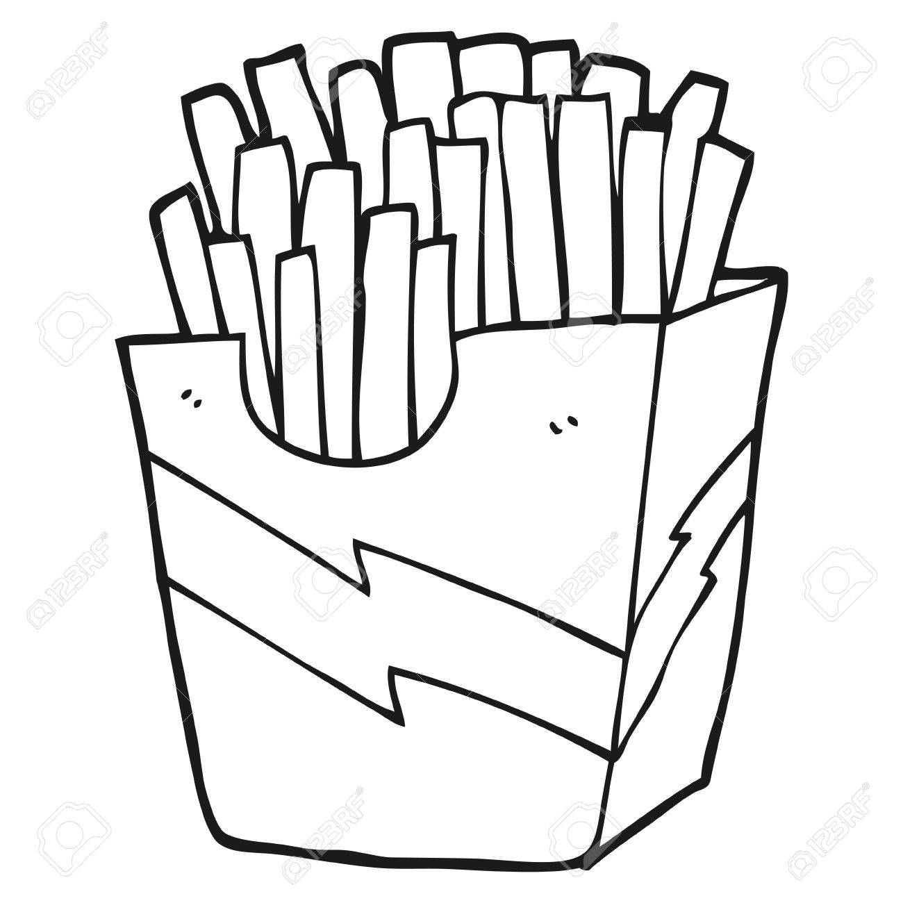 freehand drawn black and white cartoon french fries royalty free rh 123rf com Marriage Clip Art Black and White Vintage Clip Art Black and White
