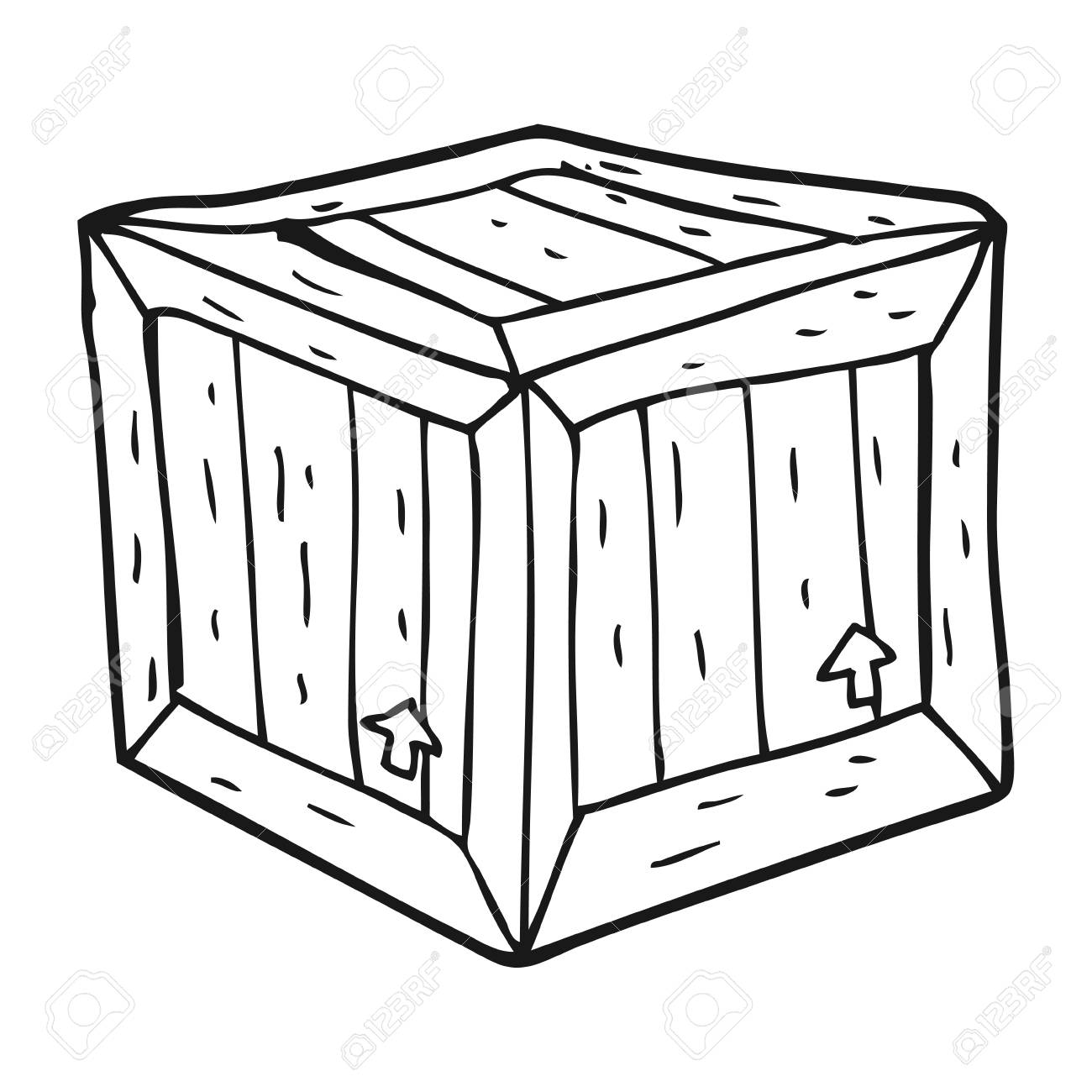 Freehand Drawn Black And White Cartoon Box Royalty Free Cliparts Vectors And Stock Illustration Image 53287297