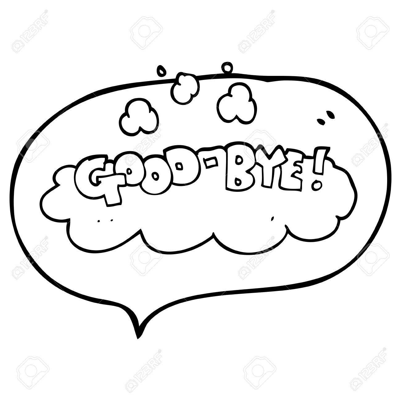 Dessin Au Revoir freehand discours dessiné dessin animé bulle symbole au revoir clip