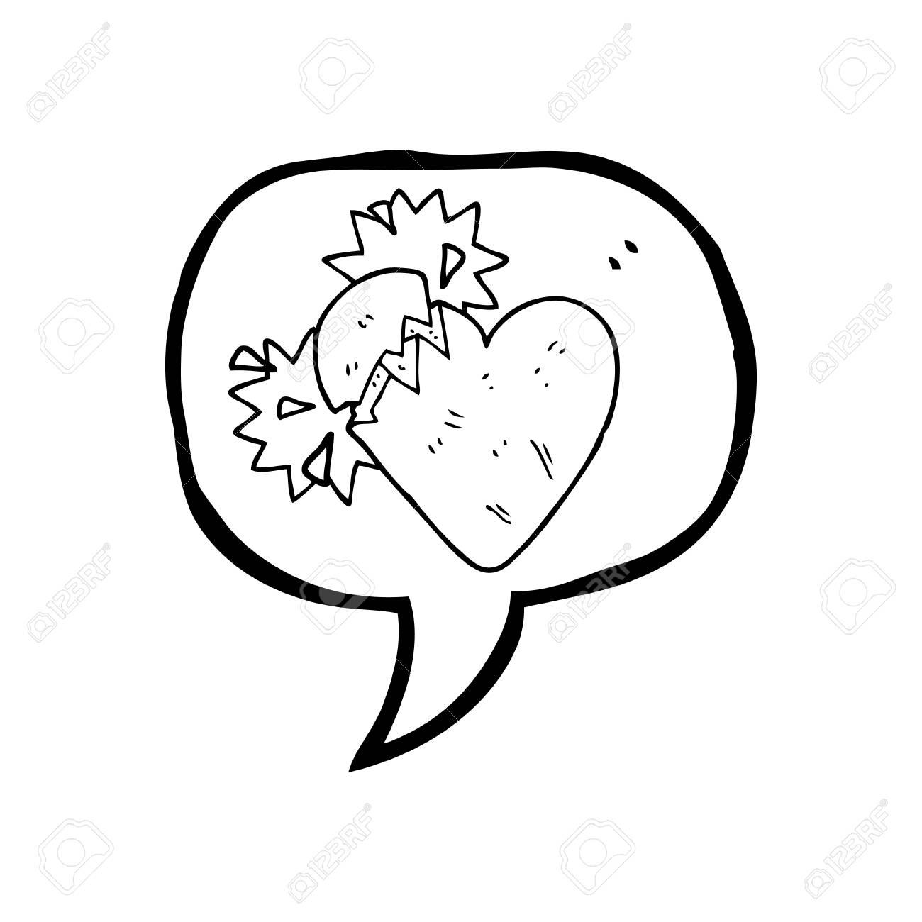 A Mano Alzada Discurso Elaborado Corazón Roto La Burbuja De Dibujos ...