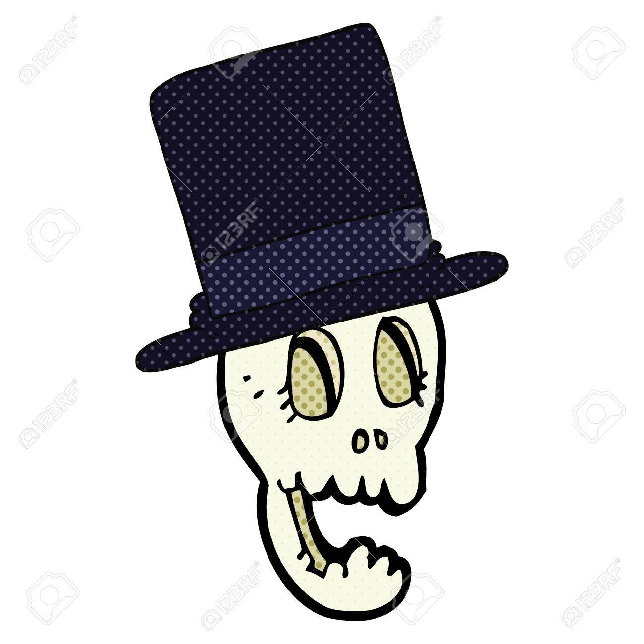 Archivio Fotografico - Cappello a cilindro del fumetto disegnato a mano  libera 762b0d4be389