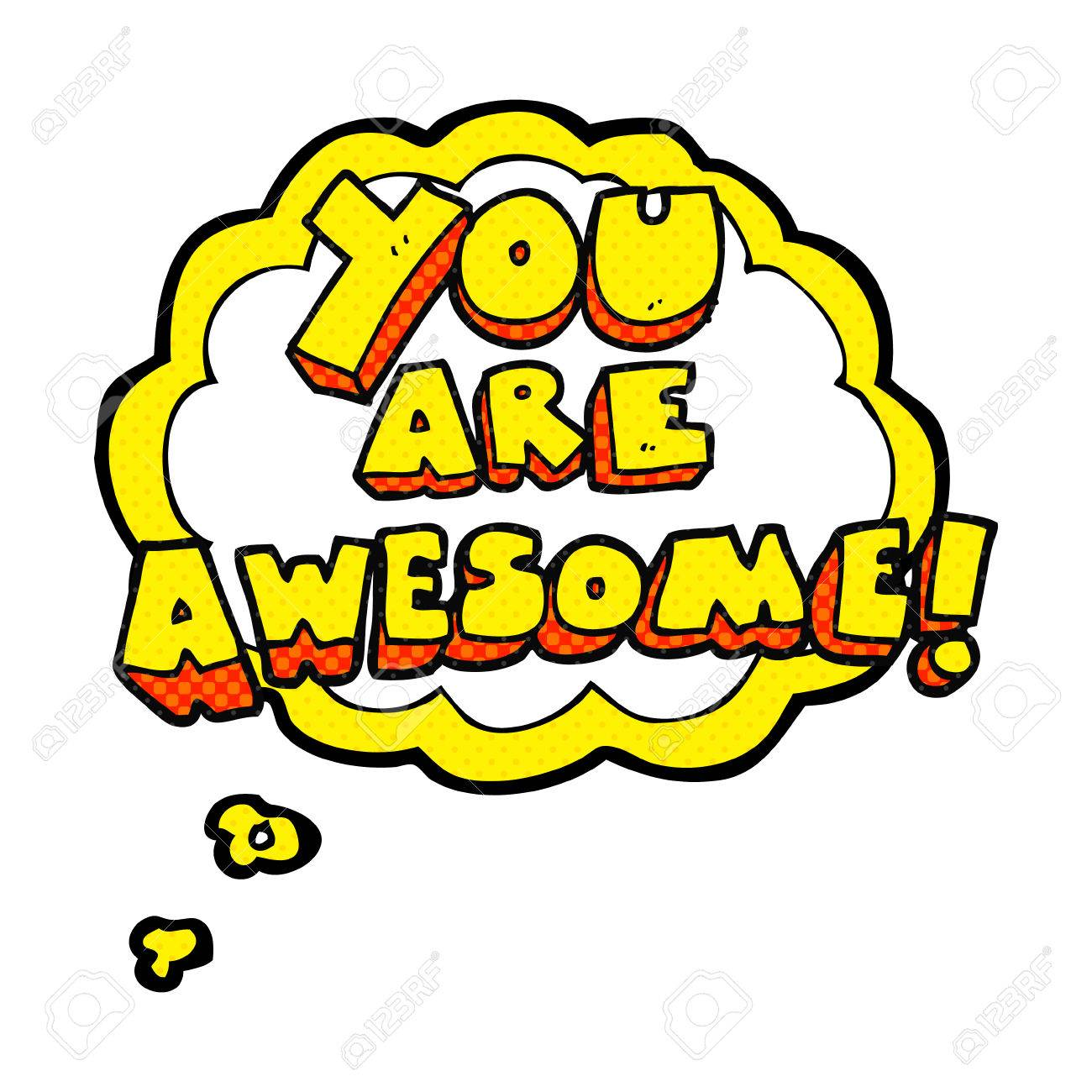 freehand drawn thought bubble cartoon you are awesome text royalty rh 123rf com your awesome clip art you are awesome clip art dog