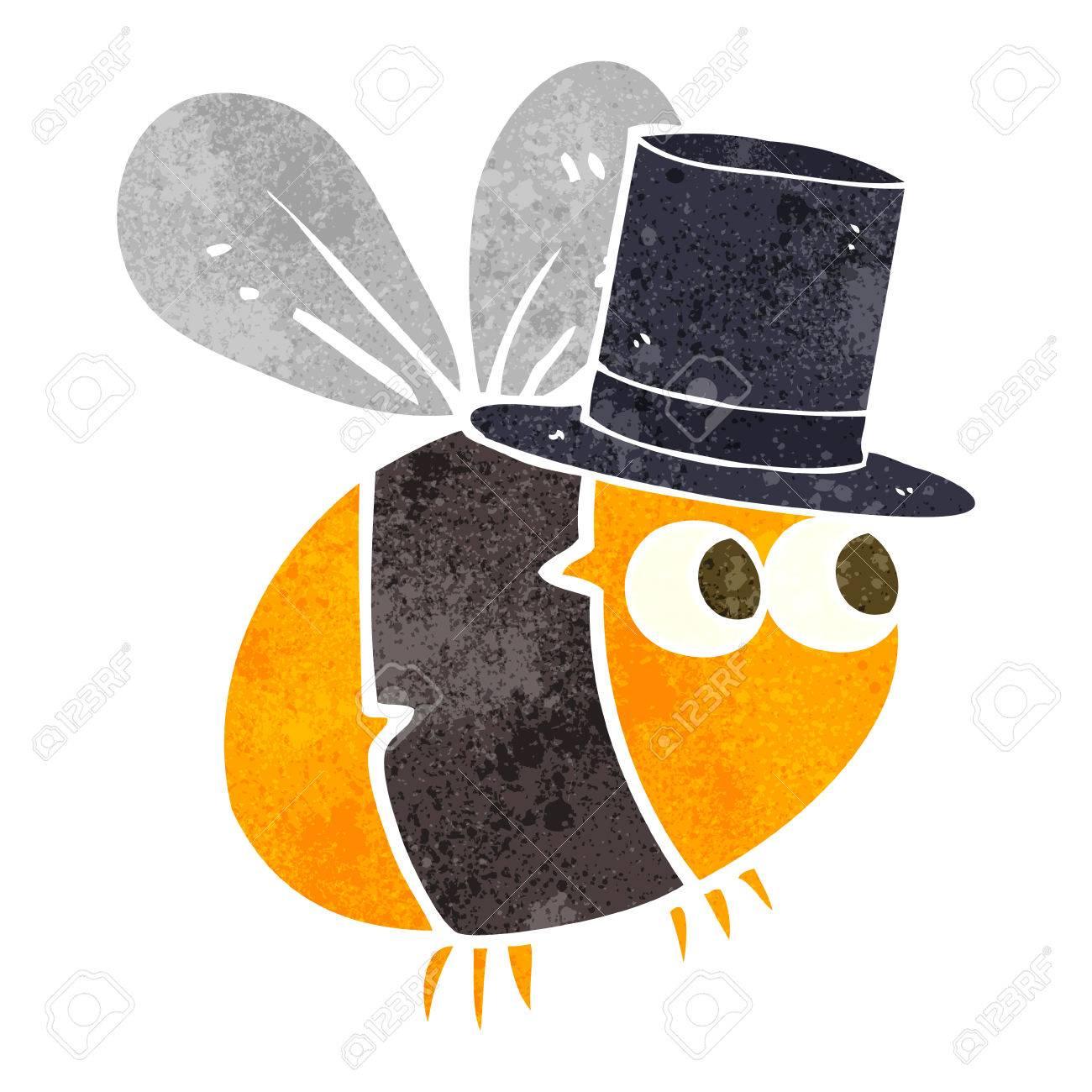 A mano libera fumetto retrò ape cappello a cilindro Archivio Fotografico -  53703130 b53edbeb9422