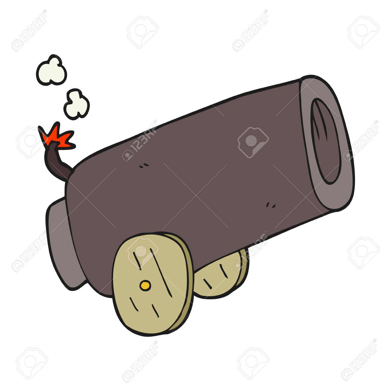 freehand drawn cartoon cannon royalty free cliparts, vectors, and