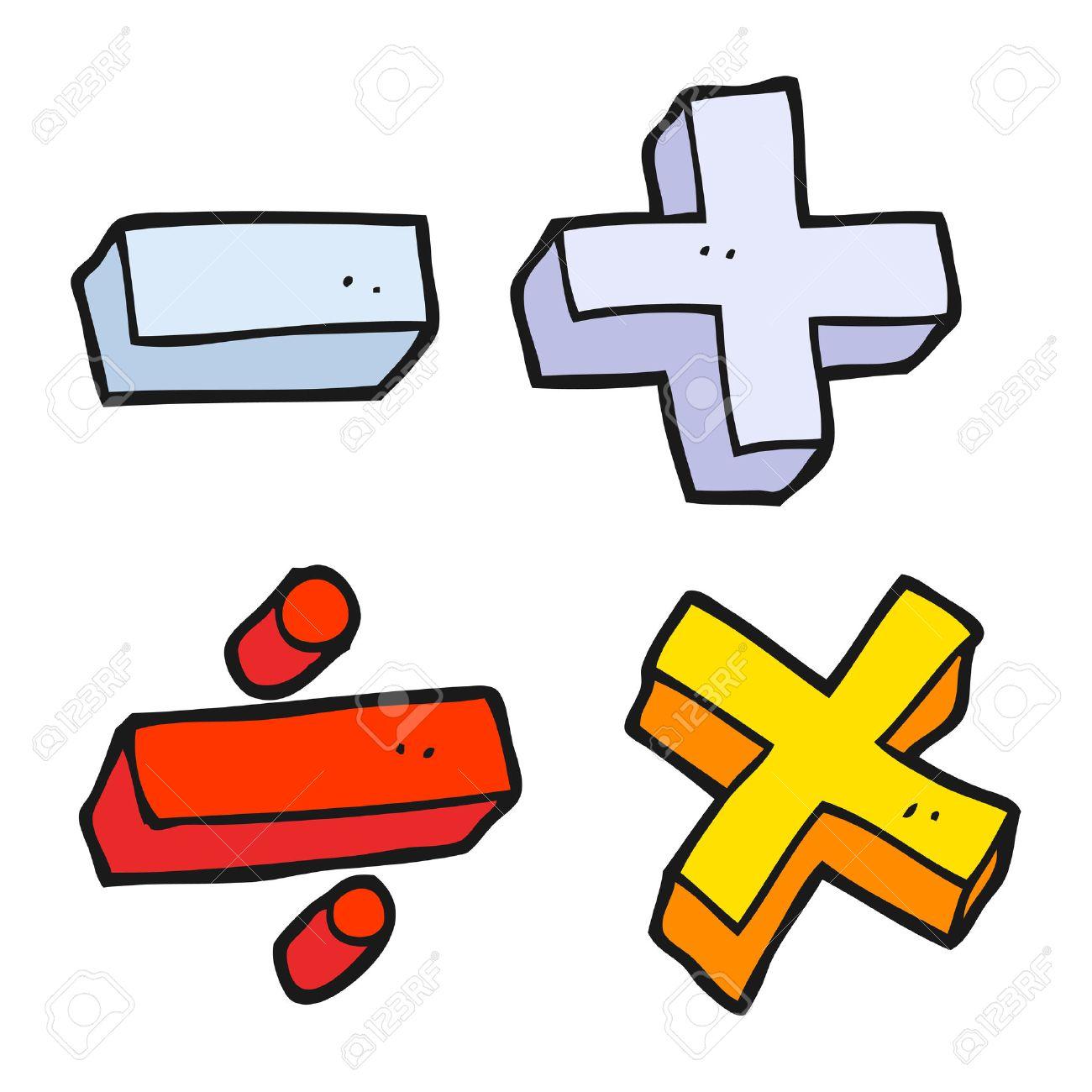 freehand drawn cartoon math symbols - 54020959