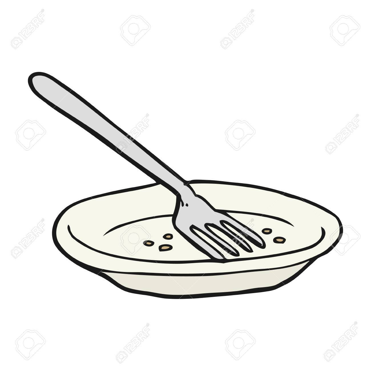 Freehand Drawn Cartoon Empty Plate Royalty Free Cliparts Vectors
