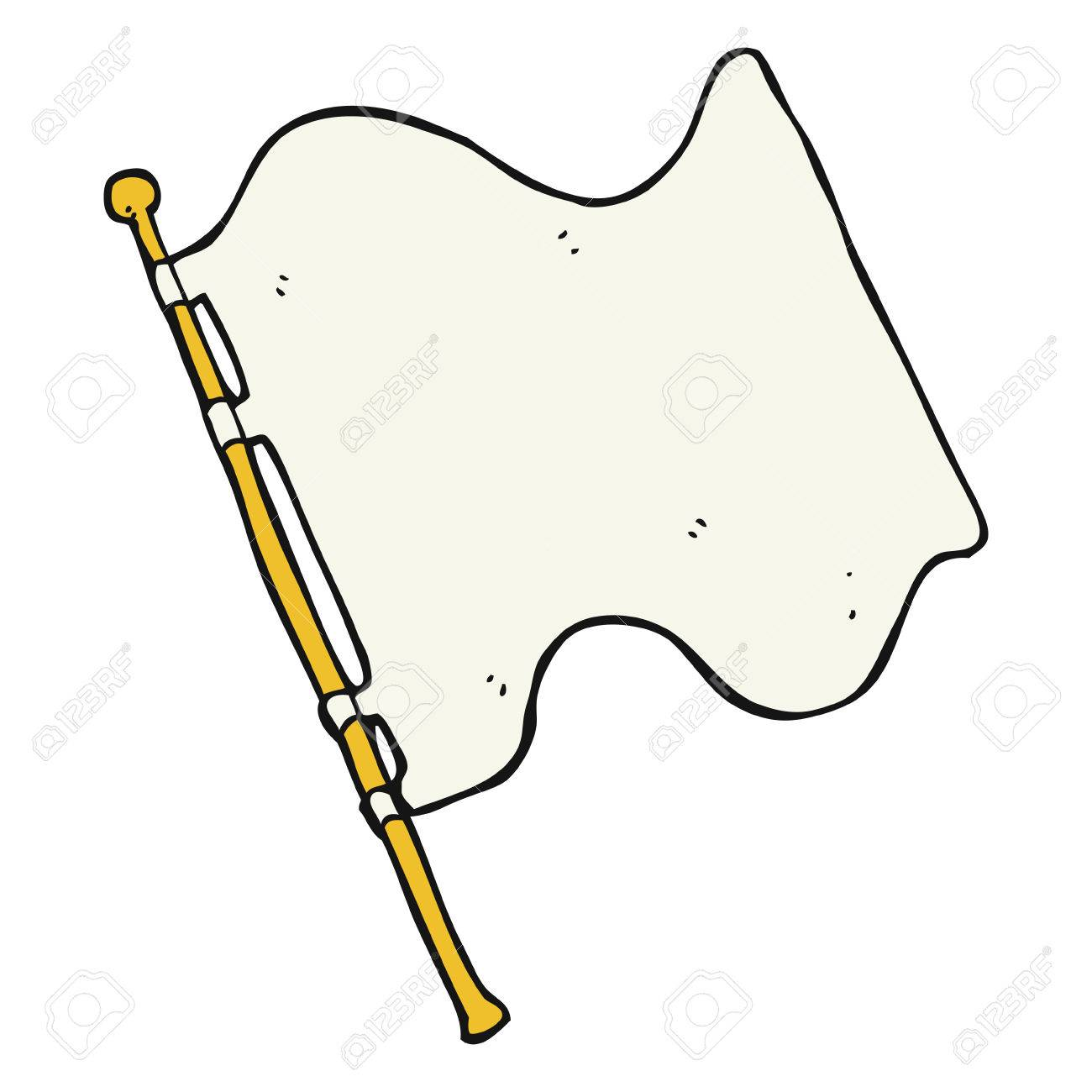freehand drawn cartoon white flag royalty free cliparts vectors rh 123rf com waving white flag clip art black and white checkered flag clip art