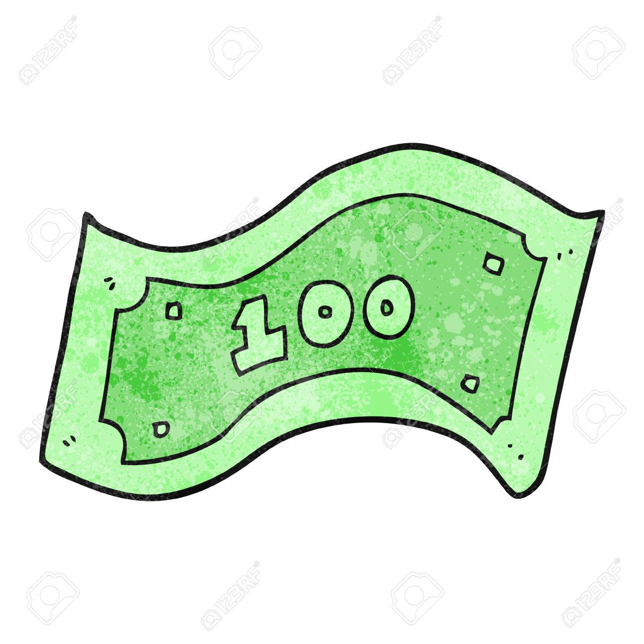 freehand textured cartoon 100 dollar bill royalty free cliparts rh 123rf com 100 dollar bill vector art 100 dollar bill vector art