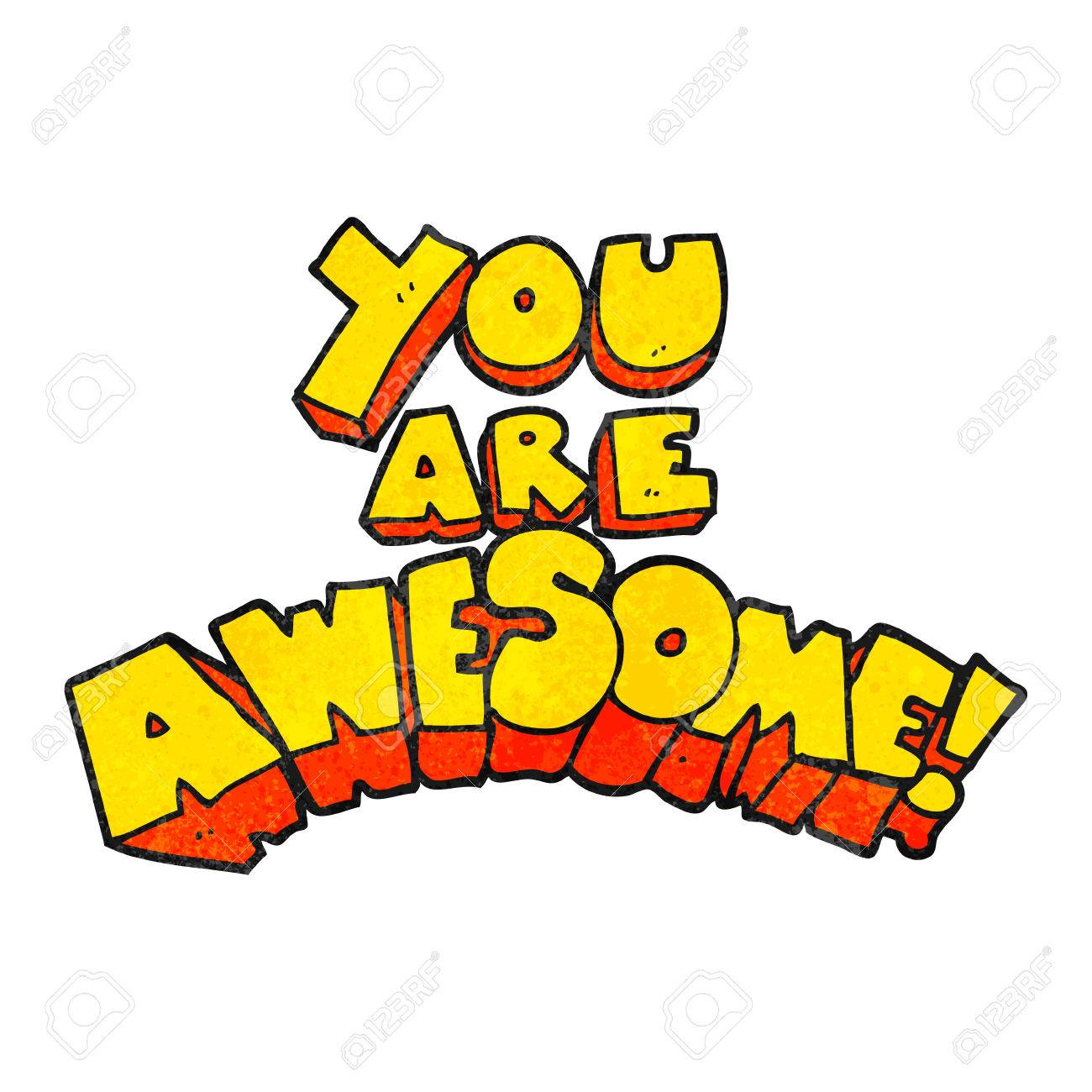 you are awesome freehand textured cartoon sign royalty free cliparts rh 123rf com thank you you are awesome clip art you're awesome clip art