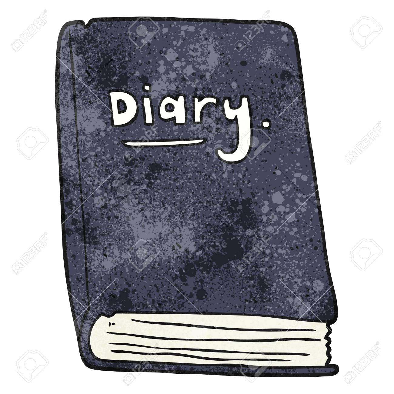 Freehand Textured Cartoon Diary Royalty Free Cliparts, Vectors ...