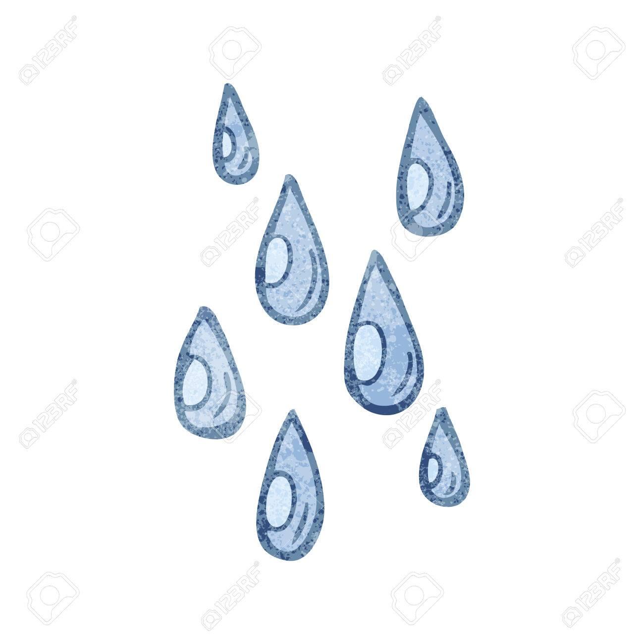freehand textured cartoon raindrops royalty free cliparts vectors rh 123rf com cartoon raindrops cartoon raindrops pictures