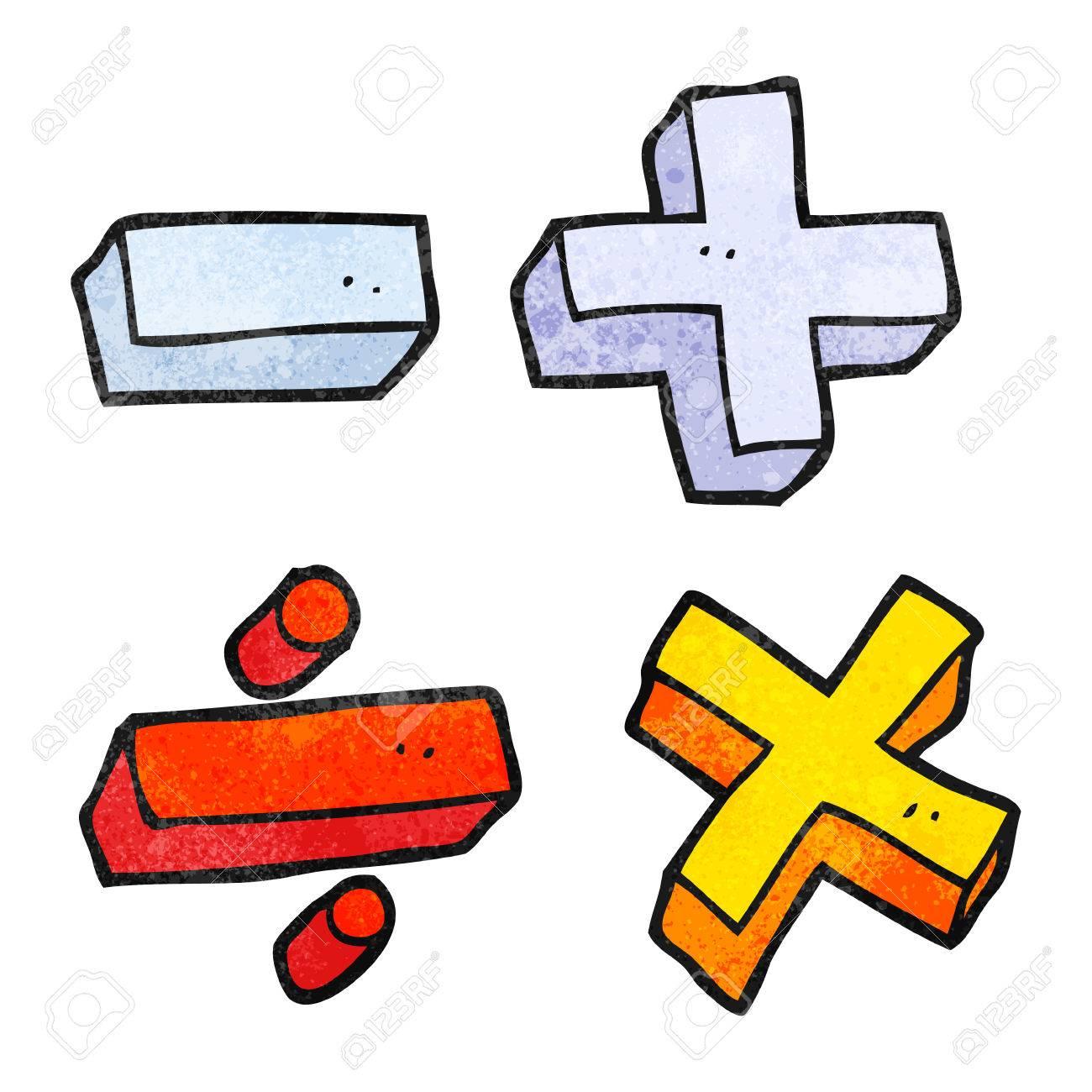 A Mano Alzada Con Textura De Los Simbolos Matematicos De Dibujos