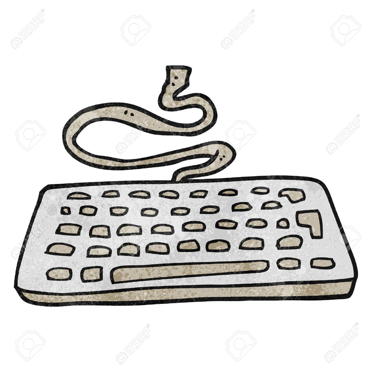 Freehand Textured Cartoon Computer Keyboard Royalty Free Cliparts Vectors And Stock Illustration Image 53910601