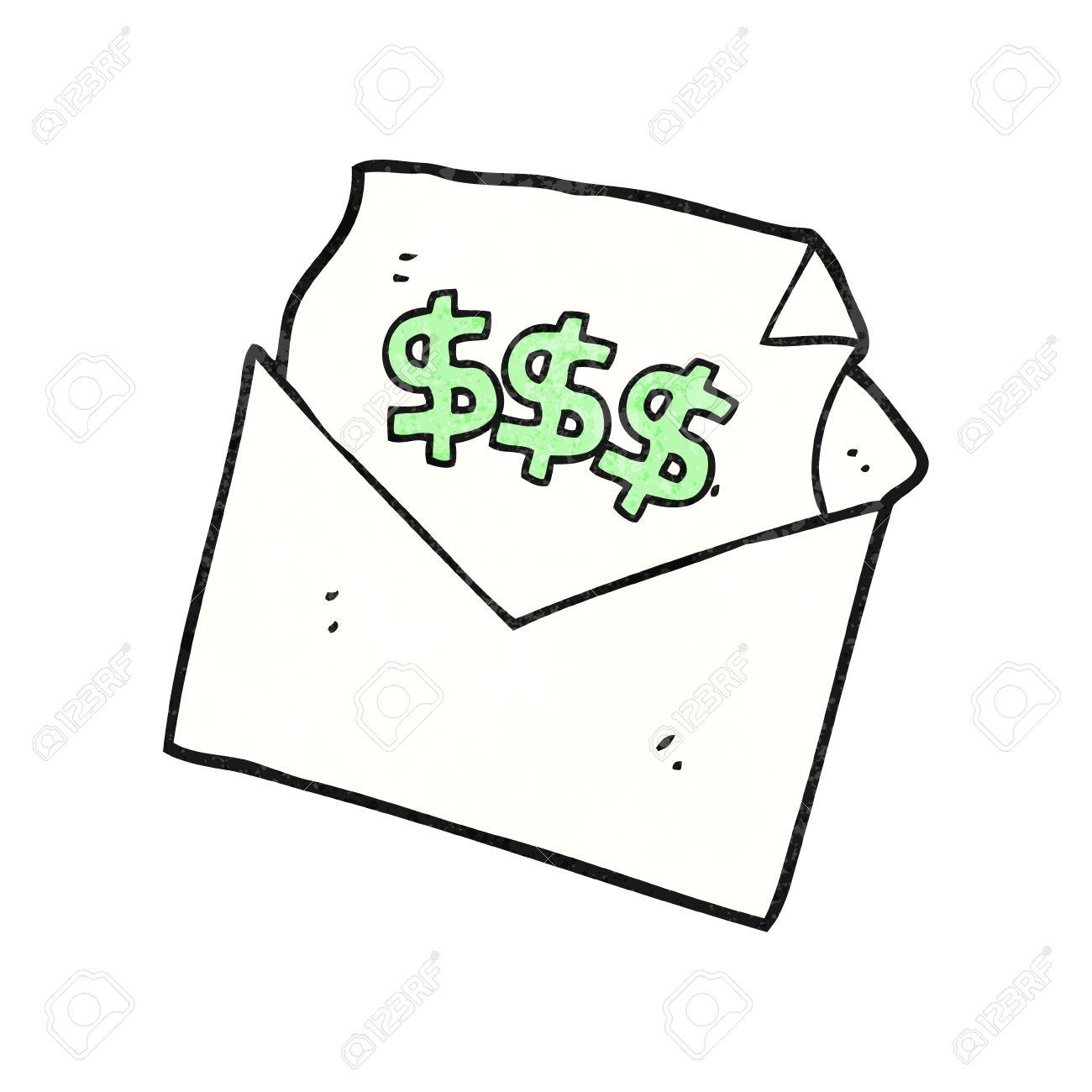 Freehand Textured Cartoon Bill Letter
