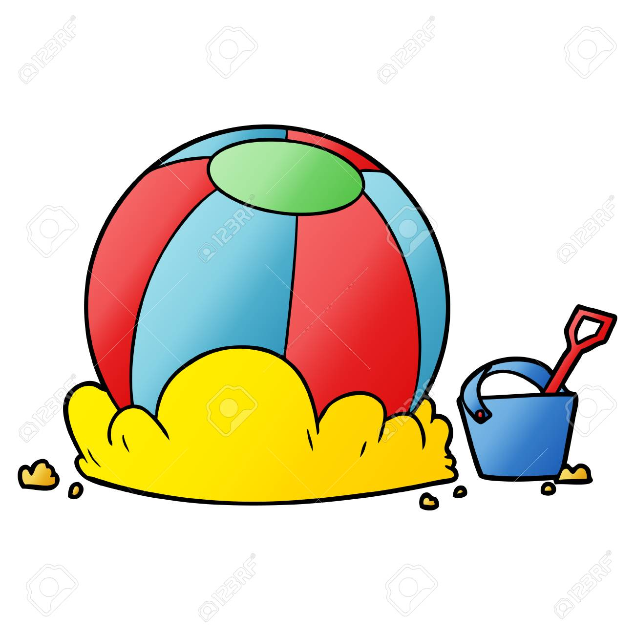 Cartoon Beach Ball And Bucket Royalty Free Cliparts Vectors And Stock Illustration Image 94549113 Download cartoon beach at dusk stock video by tykcartoon. 123rf com