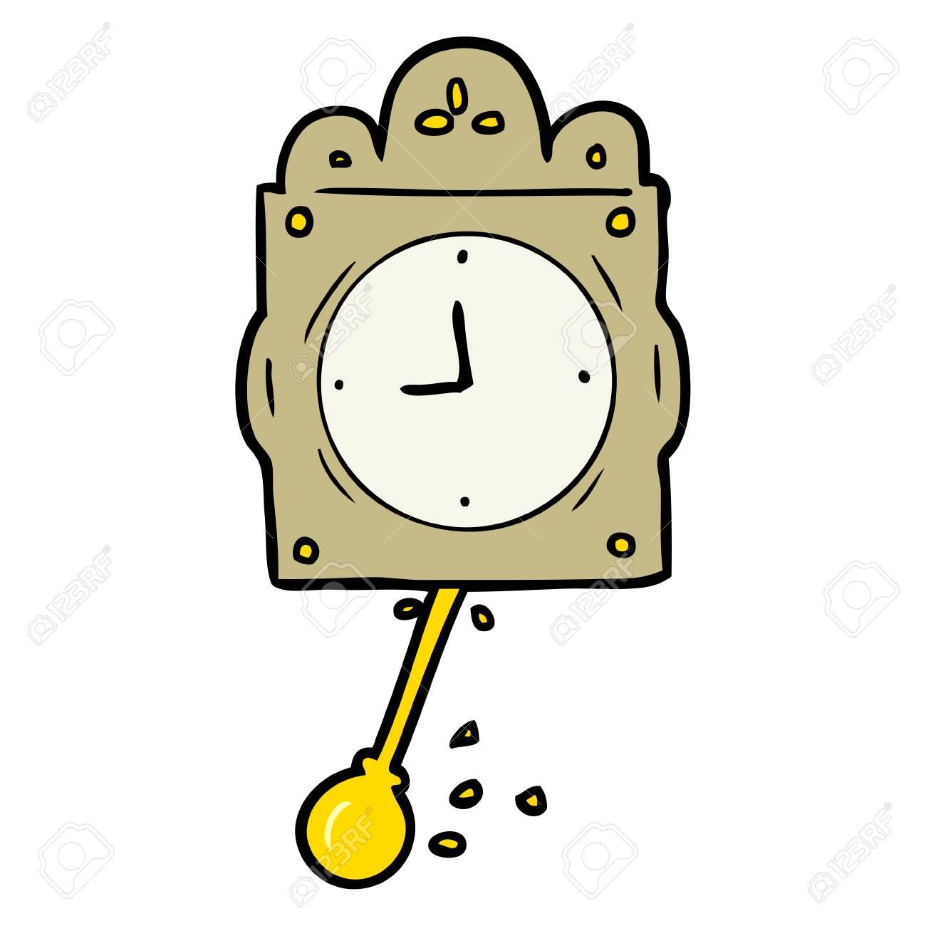 Cartoon Ticking Clock With Pendulum Royalty Free Cliparts Vectors