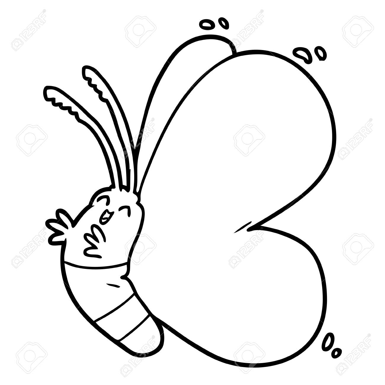 funny cartoon butterfly - 94883707