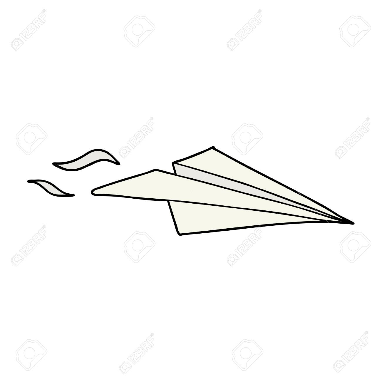 Cartoon Paper Airplane Royalty Free Cliparts Vectors And Stock
