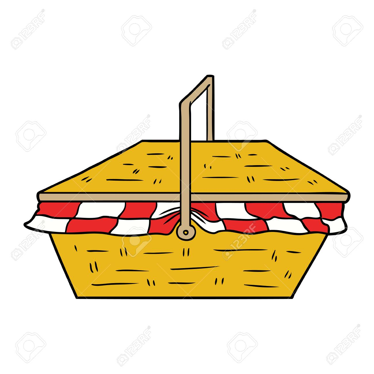 Cartoon Picnic Basket Royalty Free Cliparts Vectors And Stock Illustration Image 94854297
