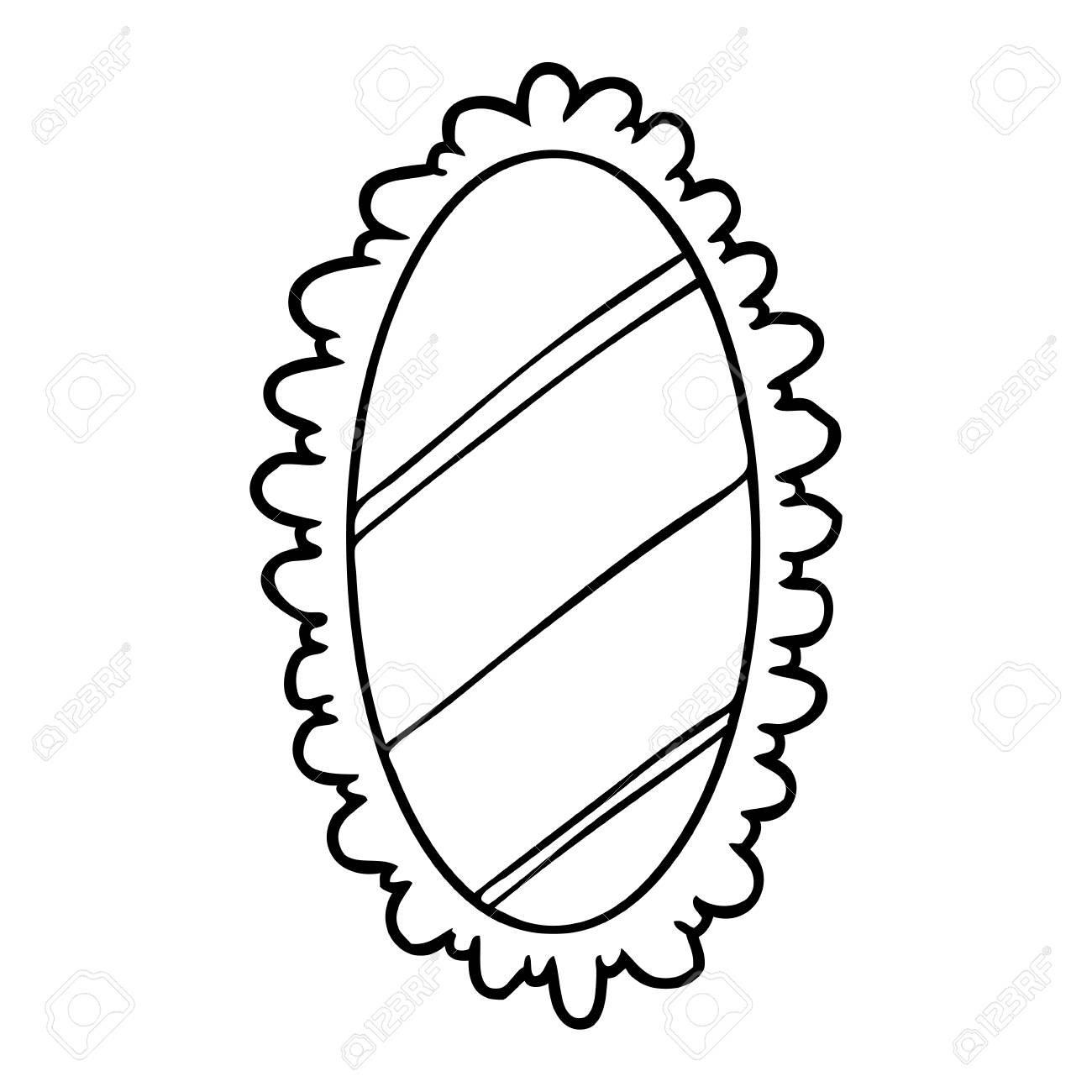 Line Drawing Of A Framed Old Mirror Royalty Free Cliparts, Vectors ...