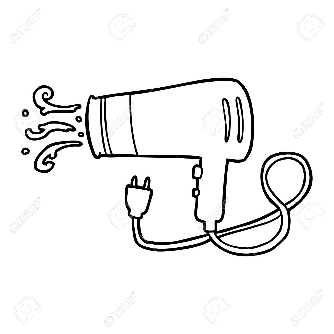 Line Drawing Of A Electric Hairdryer Royalty Free Cliparts Vectors And Stock Illustration Image 94924121