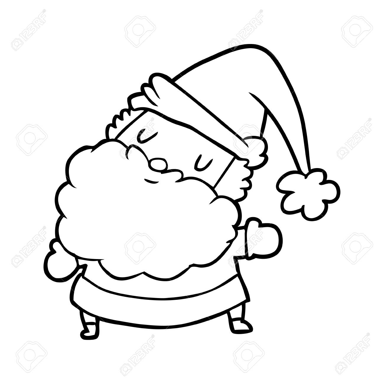 line drawing of a santa claus royalty free cliparts vectors and stock illustration image 94923591 123rf com