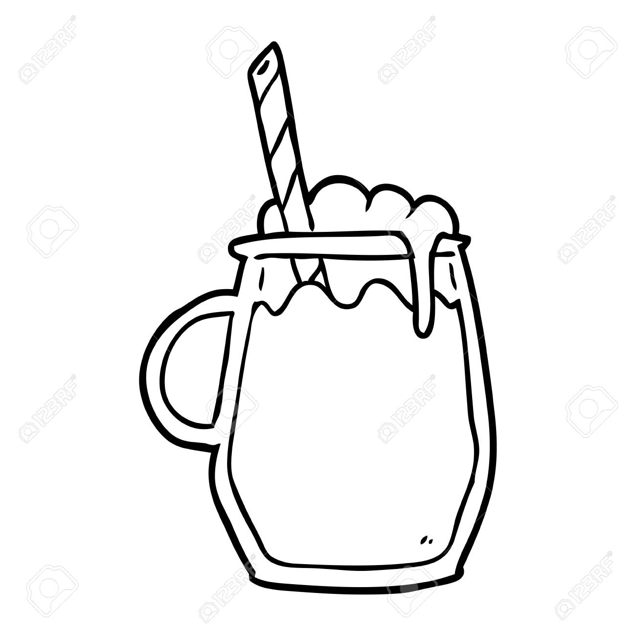 line drawing of a glass of root beer with straw royalty free rh 123rf com root beer float clip art black and white root beer float clipart png