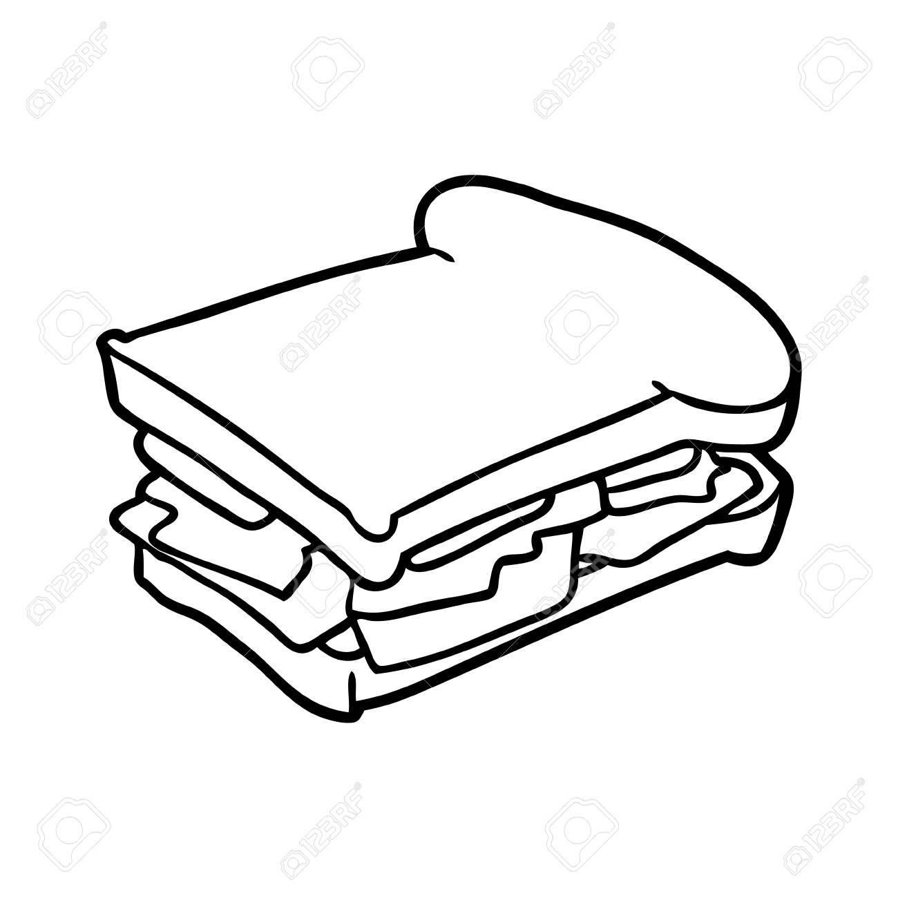 line drawing of a ham cheese tomato sandwich royalty free cliparts vectors and stock illustration image 94936554 123rf com