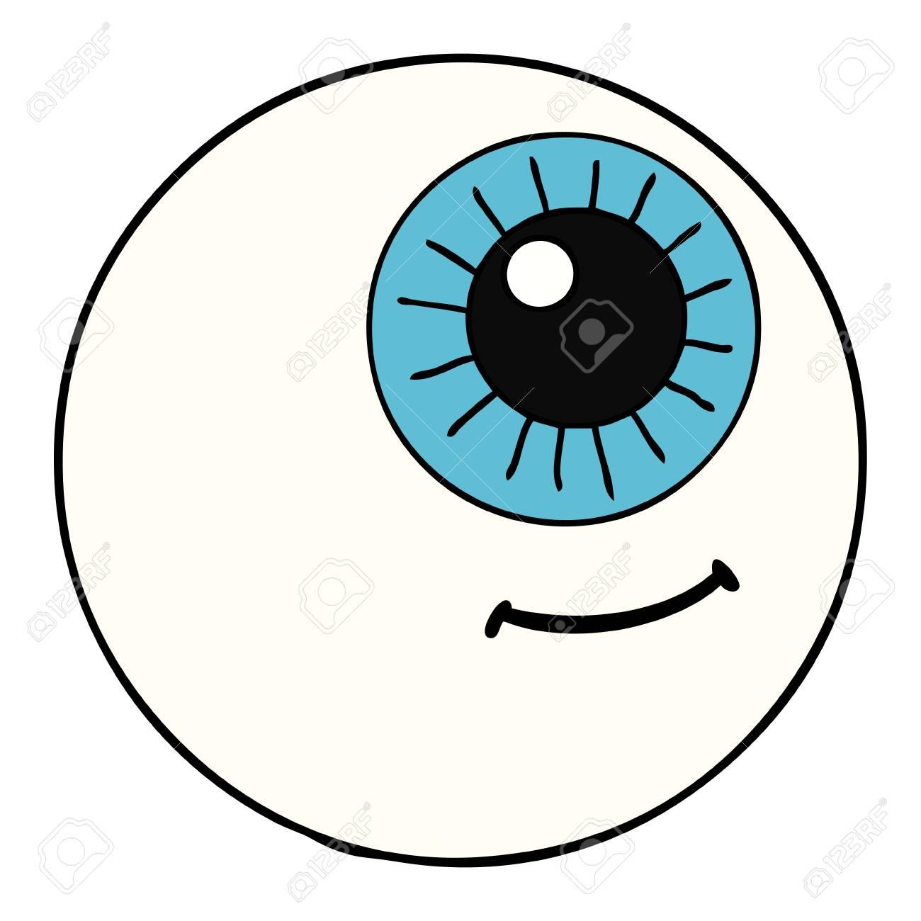 cartoon eyeball illustration design royalty free cliparts vectors rh 123rf com eyeball vector free download eyeball vector png