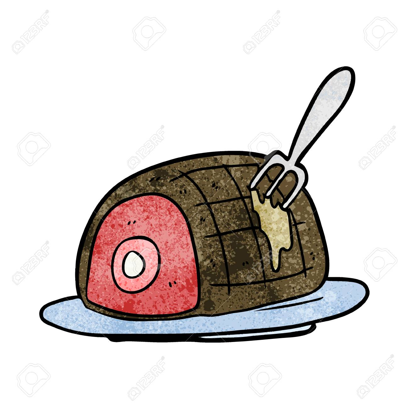 cartoon plate of cooked beef royalty free cliparts vectors and stock illustration image 95134790 123rf com
