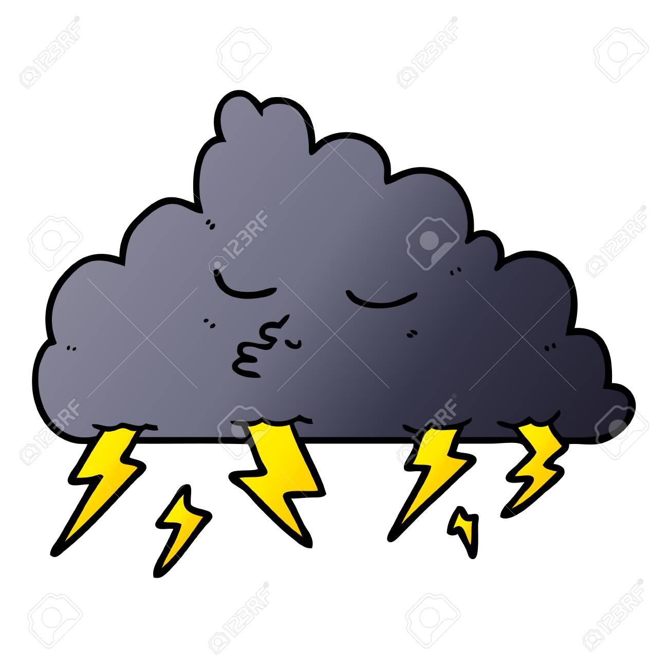 cartoon storm cloud vector illustration royalty free cliparts rh 123rf com cartoon storm cloud with lightning cartoon character with storm cloud