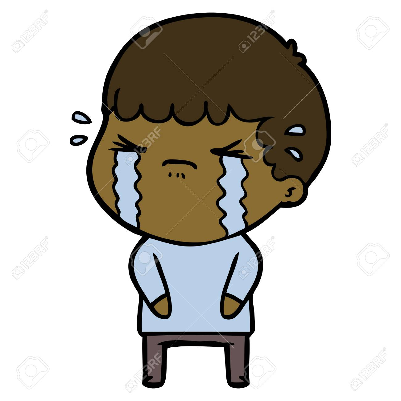 Crying and sad boy cartoon stock vector 95260703