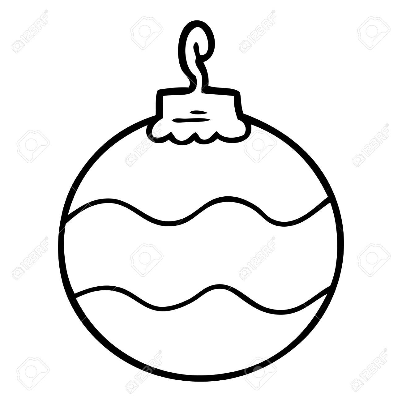Cartoon Christmas Bauble